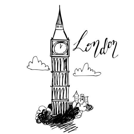 british culture: World famous landmark Illustration