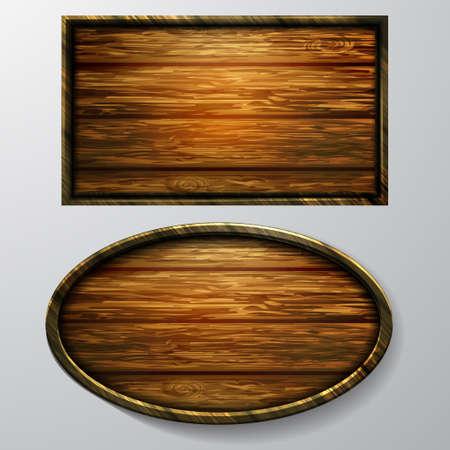 Wooden signs. Illustration