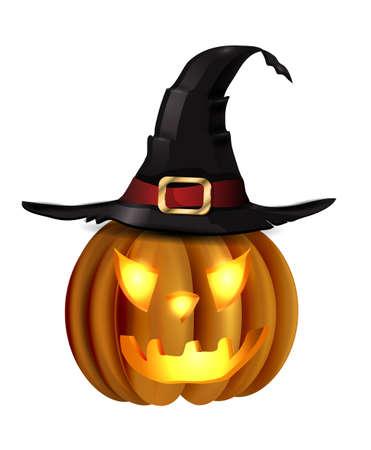 怖いジャック O ランタンのハロウィンかぼちゃ