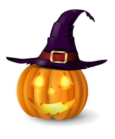 Scary Lantern Halloween pumpkin Illustration