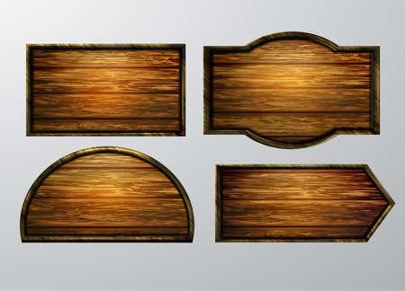 Wooden signs illustration.