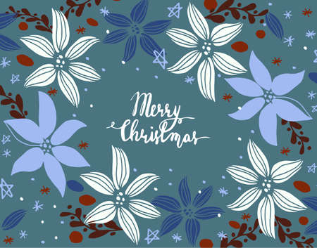 christmas backgrounds: Christmas card with fir tree Stock Photo