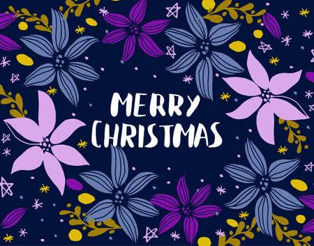 Carte de Noël avec sapin Banque d'images - 87948686