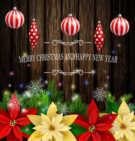 Christmas decoration evergreen trees. Reklamní fotografie - 87993517