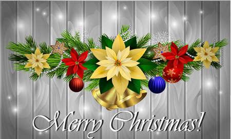Christmas decoration evergreen trees Illustration