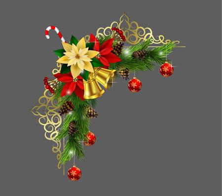 クリスマス装飾アイコンです。