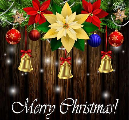 Christmas decoration evergreen trees. Illustration