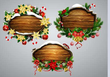板の壁の装飾の装飾品クリスマスのベクトル イラスト
