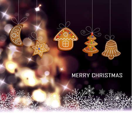 Christmas tree light background