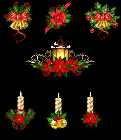 Christmas decoration with street light