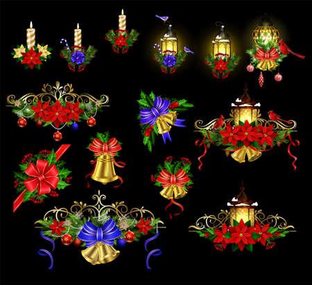 Big Christmas decoration with street light