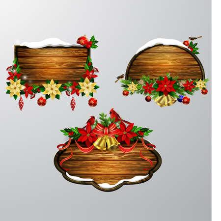 Wooden Christmas board design.