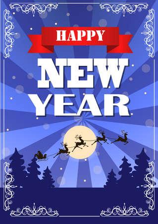 Vintage New year card design