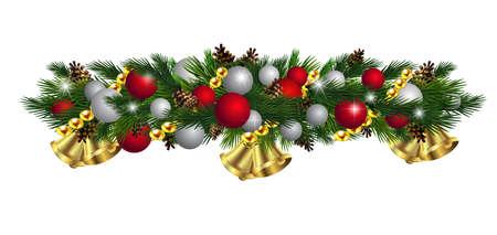 Vector Christmas Fir Decoration isolated