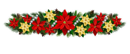 Vector Christmas Fir Decoration isolated