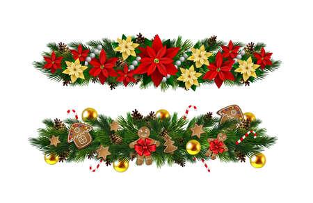 分離ベクトル クリスマス Fir 装飾