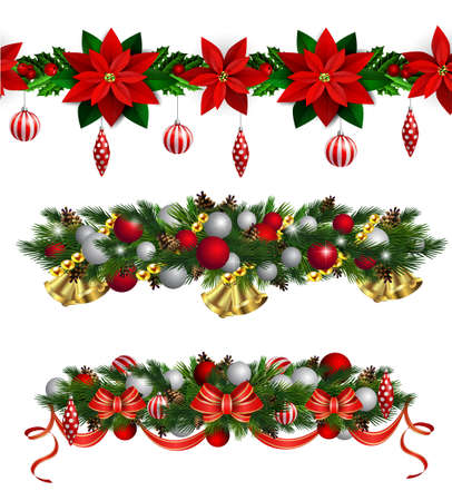 Christmas Fir boarder decoration. 矢量图像