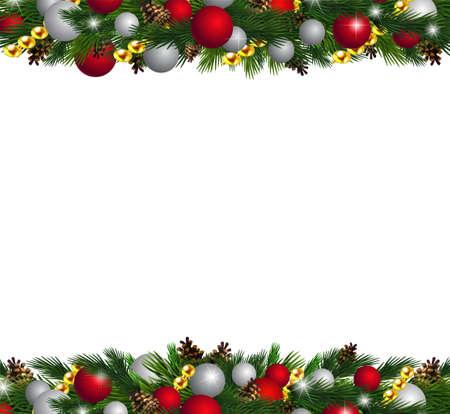 Vector Christmas Fir Decoration isolated. 矢量图像