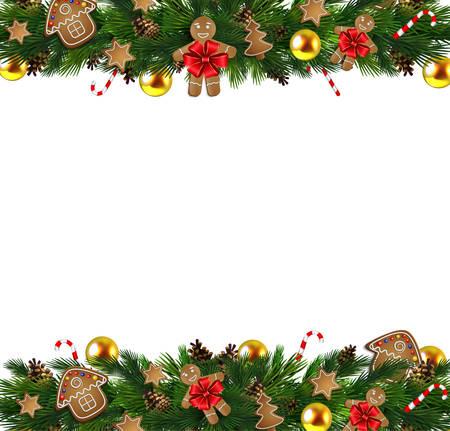 A Vector Christmas Fir Decoration isolated