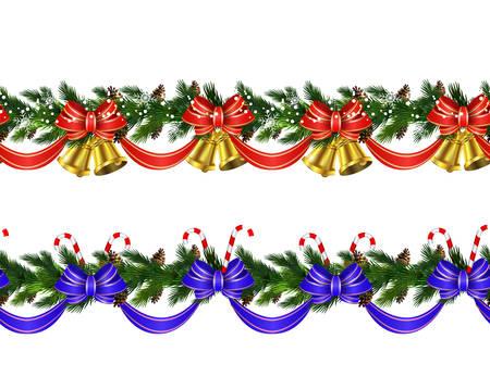 ベクター クリスマスの境界線