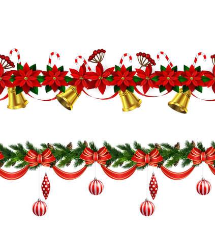 Christmas border decoration design.