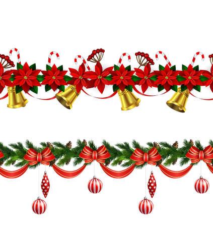 Christmas border decoration design.