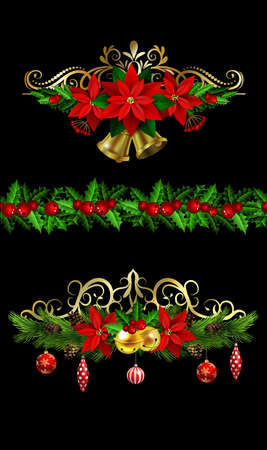 Christmas elements for your designs. Illustration