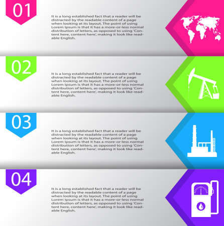 Industrial concept info graphic design. Clean vector illustration.  イラスト・ベクター素材