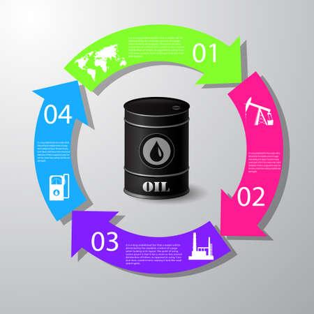 Industrial concept info graphic design. Clean vector illustration. Illustration