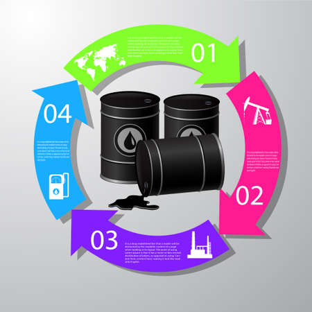 Industrieel concept info grafisch ontwerp, schone vector. Stock Illustratie