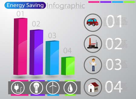 smart energy use infographic concept renewable energy smart city Vector
