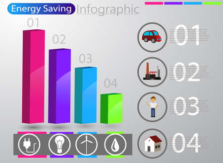 smart energy use infographic concept renewable energy smart city Vector