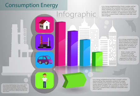 Smart energy use infographic concept renewable energy smart city Vector Illustration