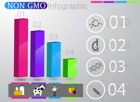 Food infographic element. Health concept Vector illustration Illustration