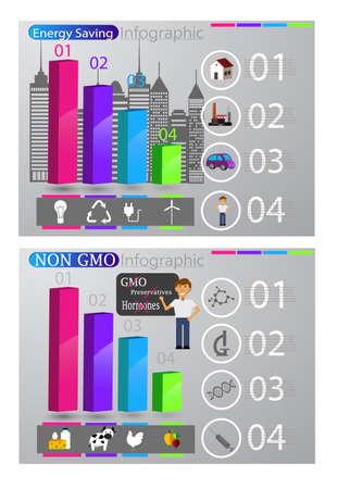Eco infographic set