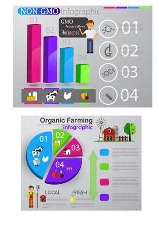 Eco infographic set template.