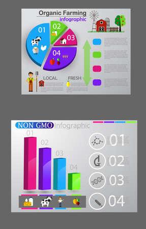 Food infographic element. Healthy food concept set Vector illustration