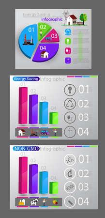 Eco infographic set on colorful presentation.