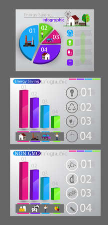 Eco infographic set on colorful presentation.