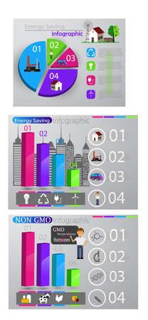 Eco info graphic set Çizim