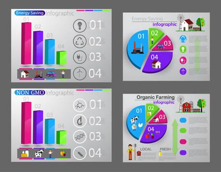 Eco infographic report graph set Çizim