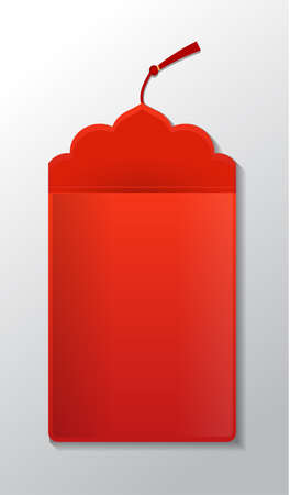 Red envelope packet Stock Illustratie