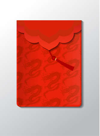 Red envelope packet Vectores