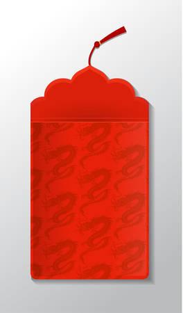 Red envelope packet Illustration
