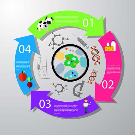 Food infographic element. Health concept Vector illustration Çizim