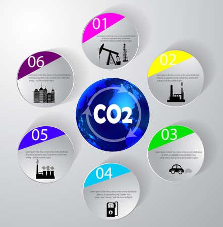 위험에 플래닛 도시의 식물과 석유 벡터 정보 그래픽 디자인 스톡 콘텐츠 - 94470897