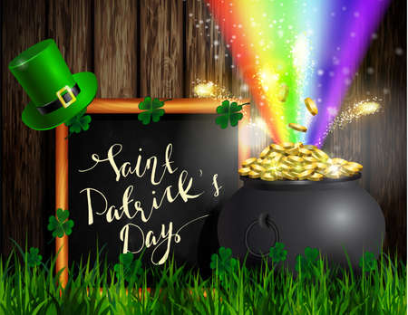 St. Patrick s Day symbol green and pot of gold.