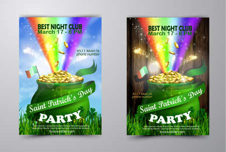 St. Patrick s Day poster design template.