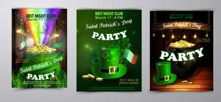 St. Patrick s Day poster. Vector illustration