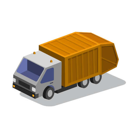 Truck isometric Vector illustration.